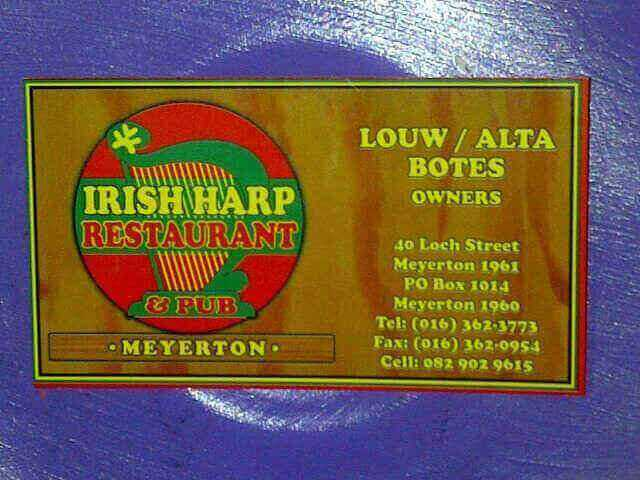 Irish Harp Restaurant
