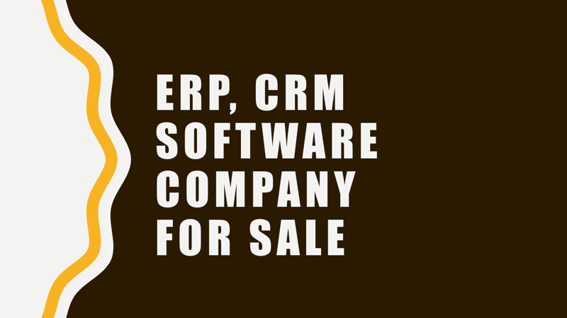 ERP/CRM Solutions Company For Sale